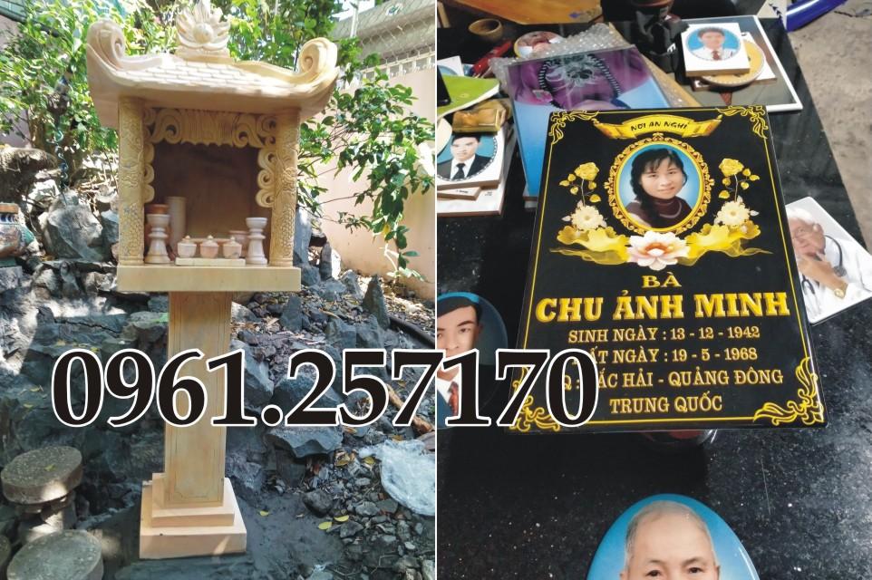 Đồ thờ đá và tượng linh vật đặt phần mộ mua ở đâu?