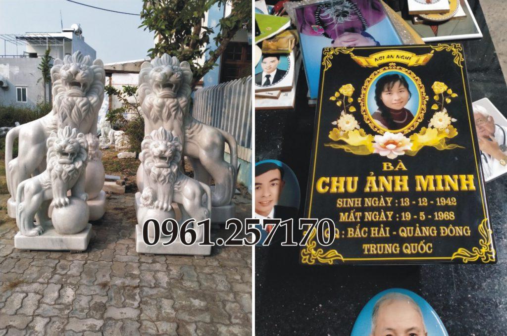 tượng linh vật đặt phần mộ bao gồm những gì